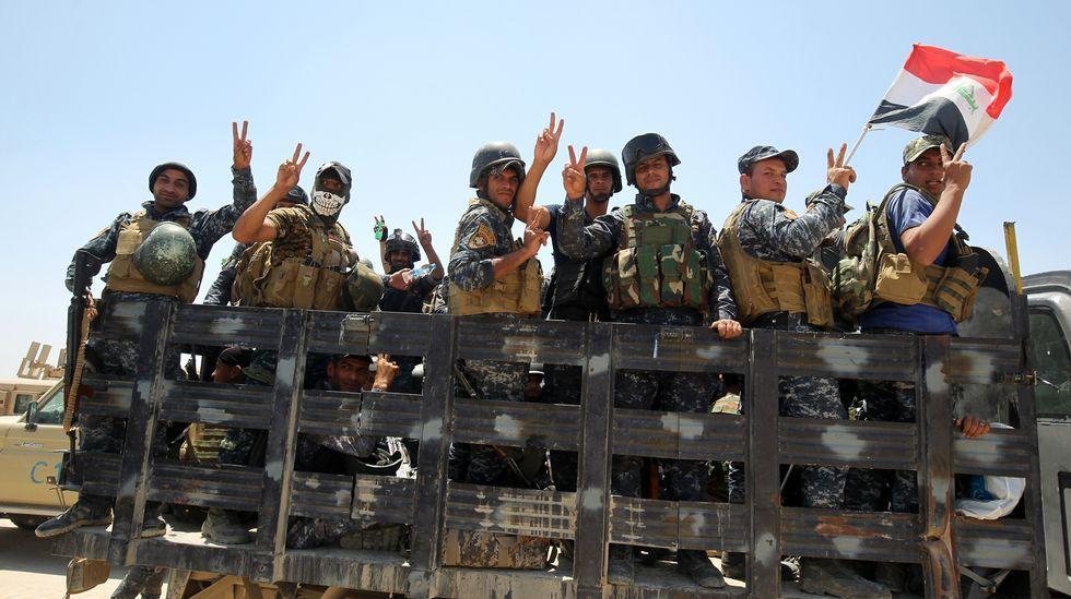 Nueva masacre terrorista en Irak.Combatientes contra el Estado Islámico en Faluya