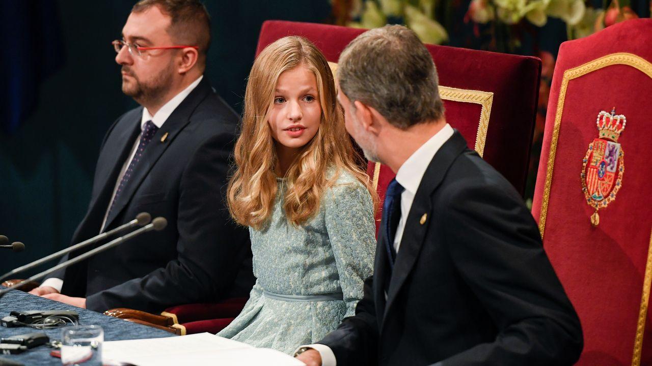 La princesa Leonor y el rey Felipe VI