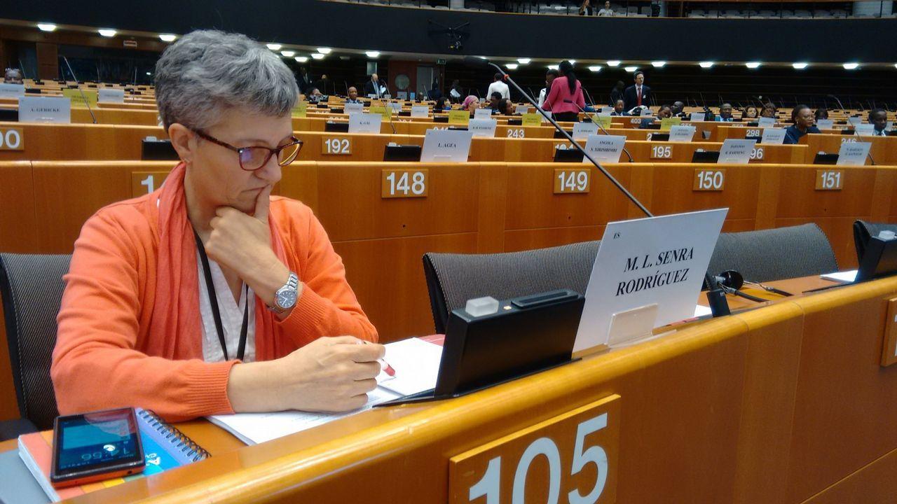 Miembros del Parlamento Europeo durante una de sus votaciones