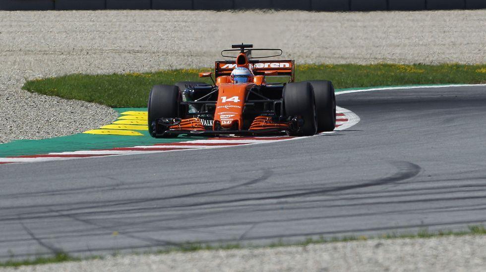Fernando Alonso tras el Gran Premio de Hungría.