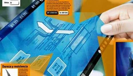 El grafeno permitirá desarrollar pantallas táctiles plegables y adaptadas a conveniencia