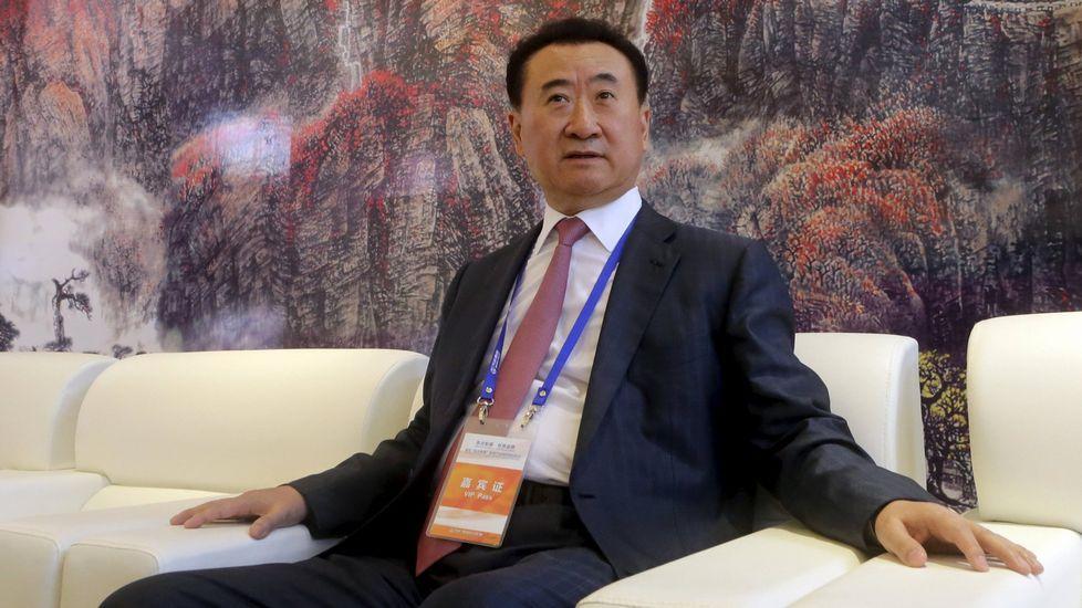 El presidente del gigante chino Dalian Wanda, Wang Jianlin.