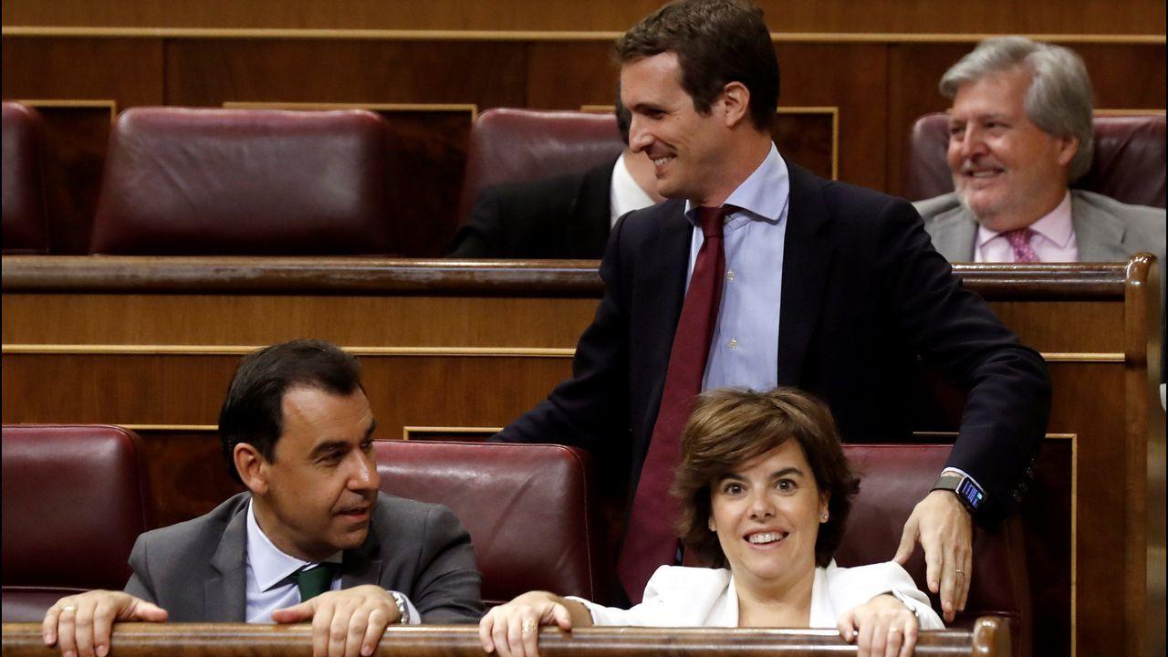 Sáenz de Santamaría y Casado, ayer en el Congreso