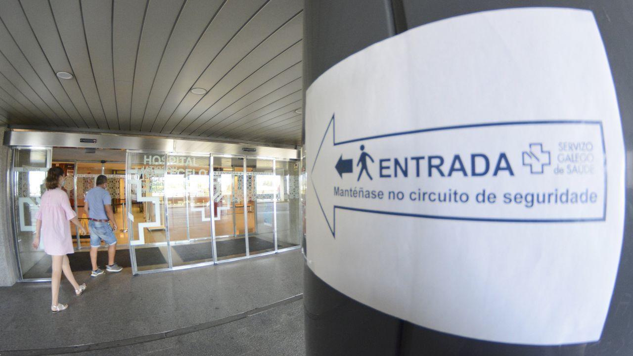 En el Hospital Montecelo, en Pontevedra, hay tres pacientes de coronavirus ingresados, uno en planta y dos graves en la uci