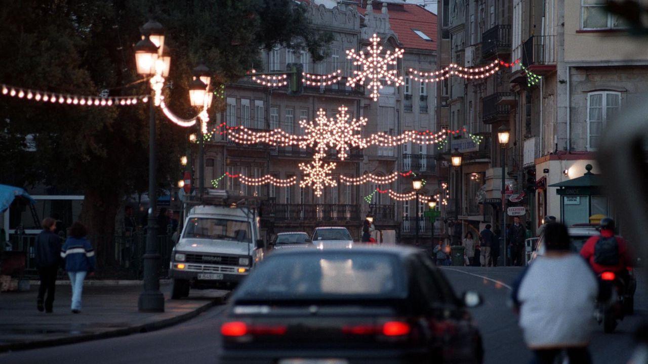 Imagen de archivo del alumbrado de Navidad en 1998