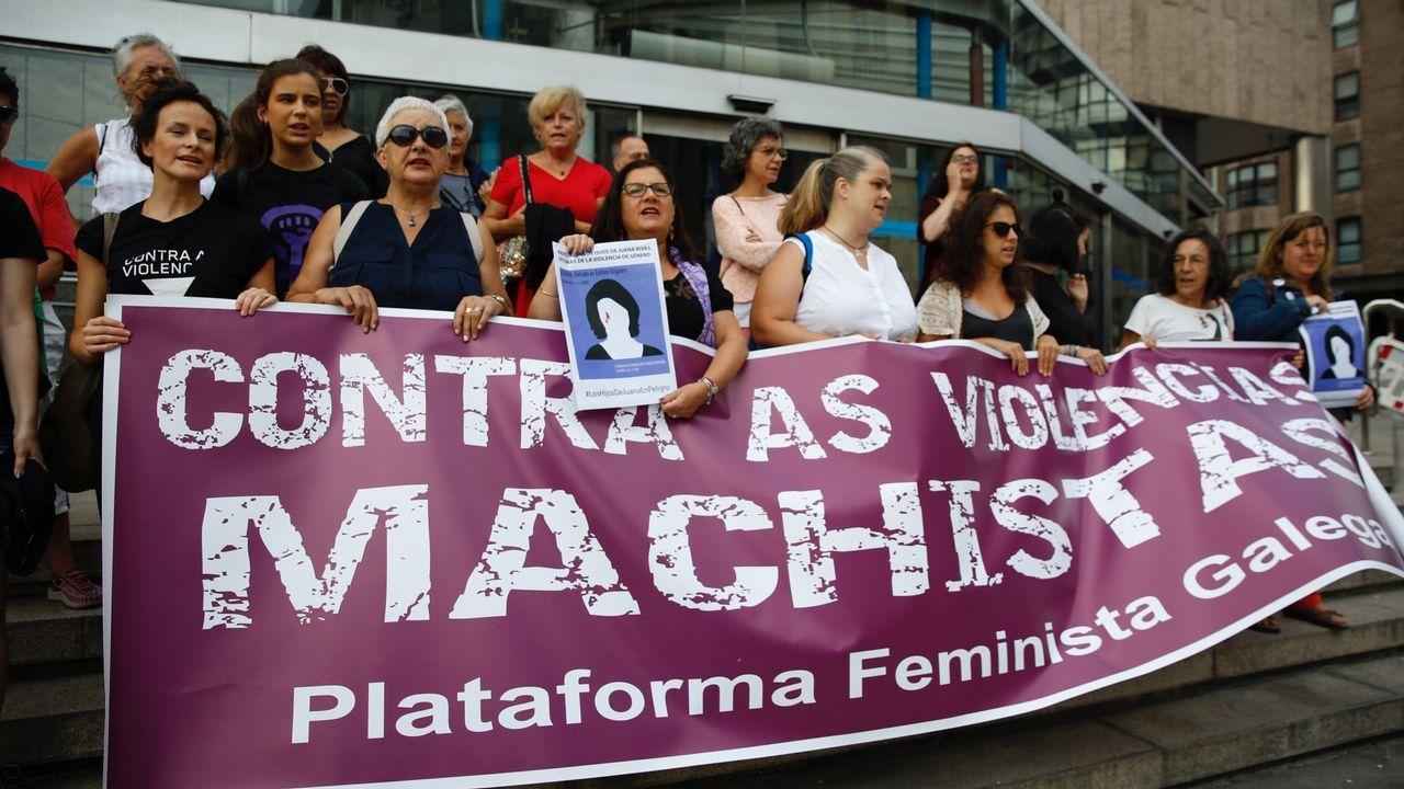 Concentración en A Coruña en apoyo a Juana Rivas