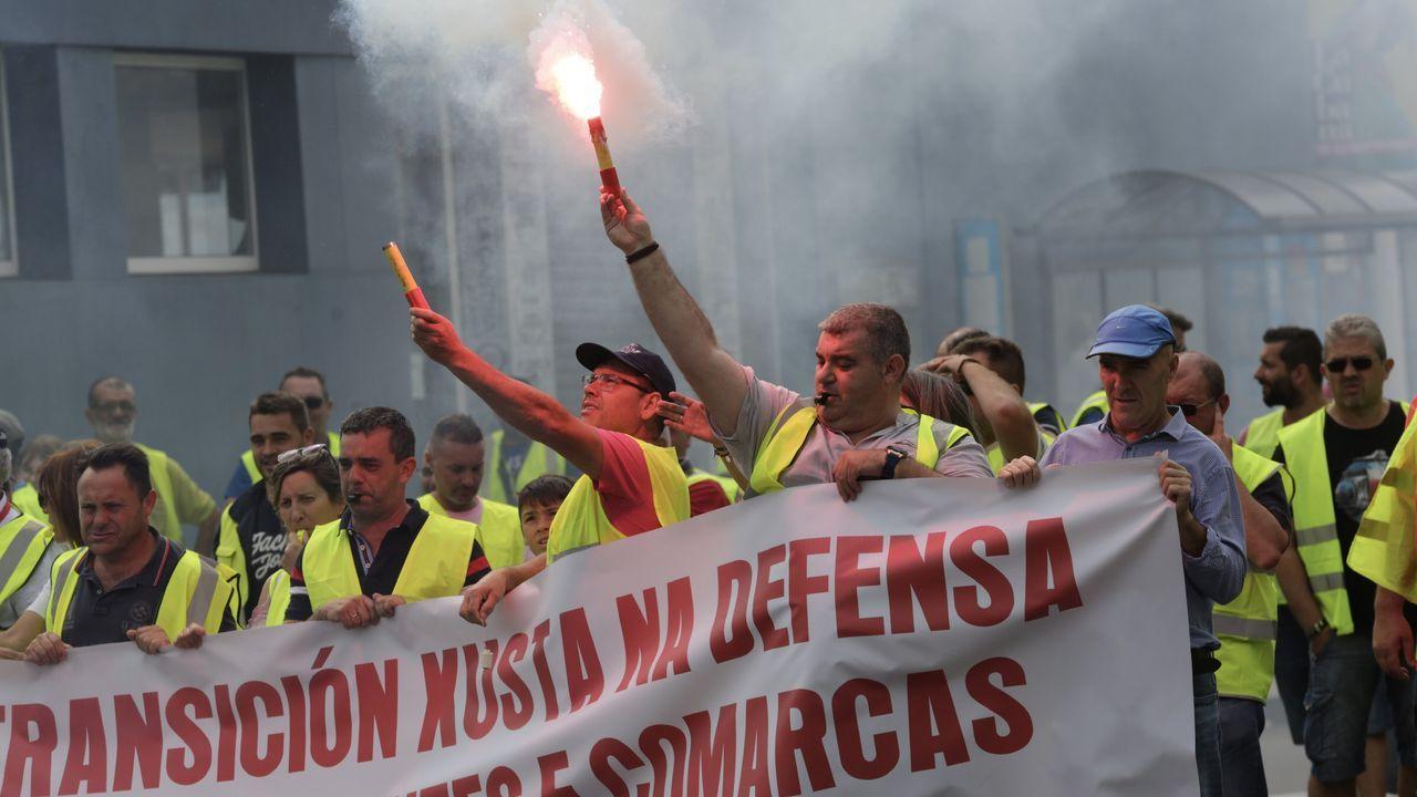 La caravana del carbón, paso a paso.Manifestación en Bilbao el pasado sábado en apoyo a los 47 encausados