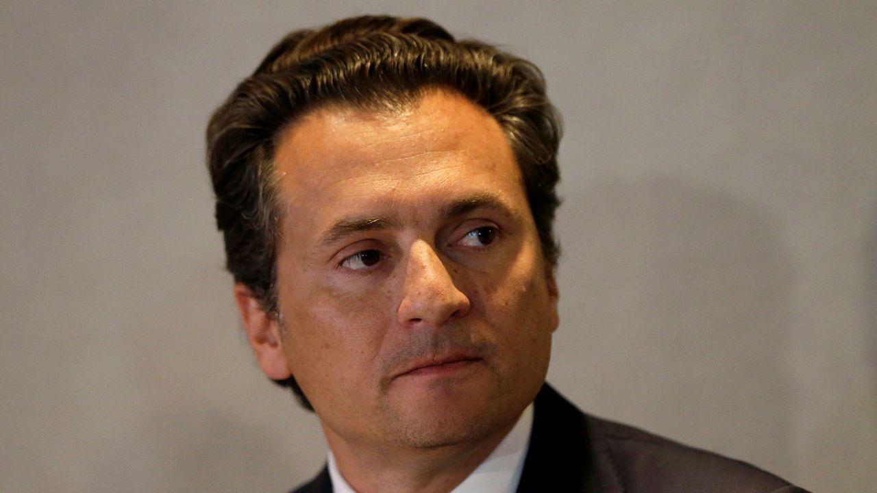 Emilio Lozoya, antiguo consejero delegado de Petróleos Mexicanos (Pemex), durante una rueda de prensa en el 2017