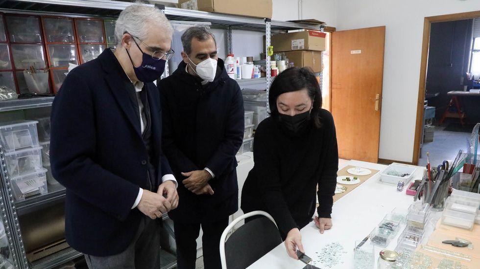 El alcalde de Sanxenxo, Telmo Martín, se reunió  con el vicepresidente económico, Francisco Conde