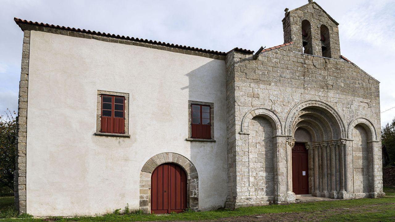 Iglesia románica de San Paio, junto al antiguo palacio de los obispos