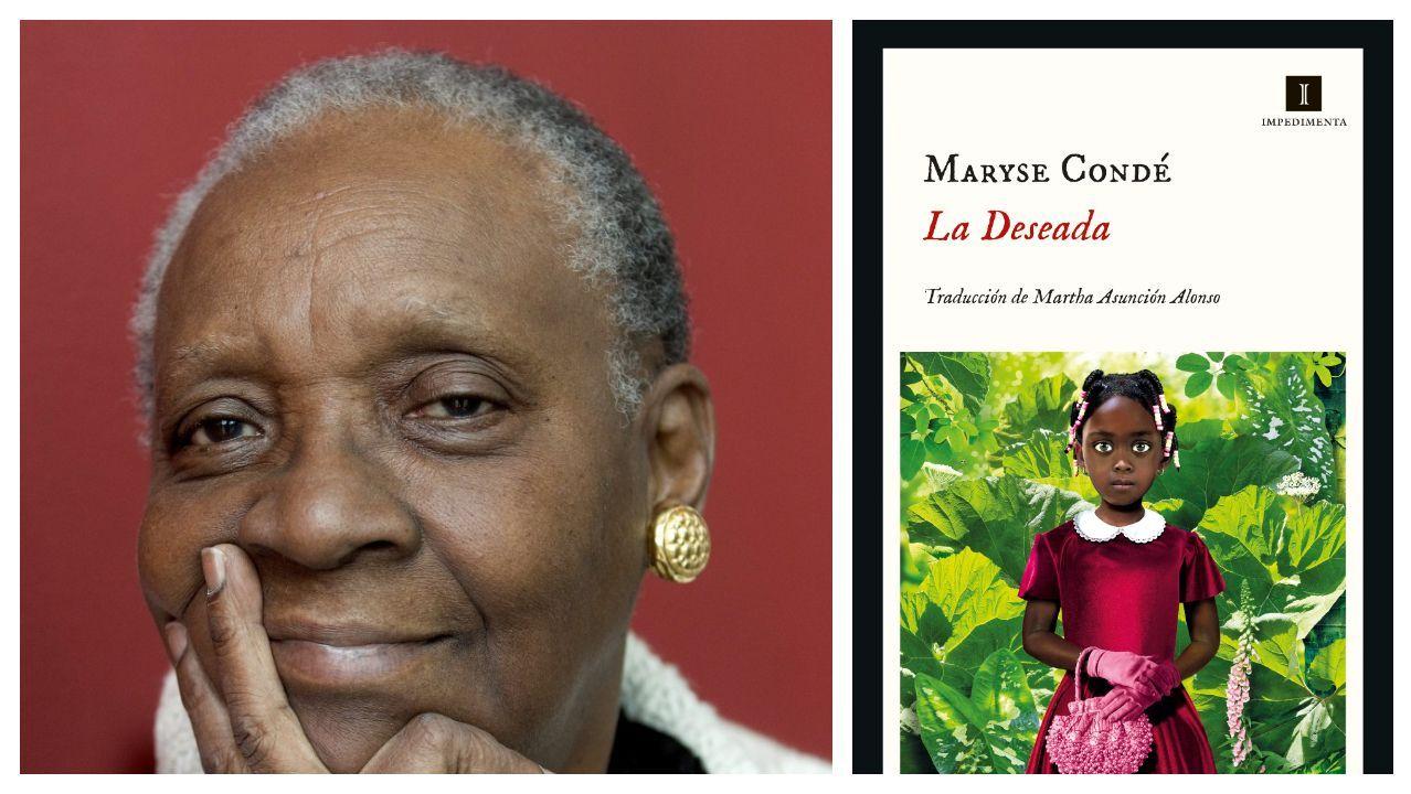 La escritora francesa nacida en Guadalupe Maryse Condé (1937). A la derecha, portada de su último libro publicado en España