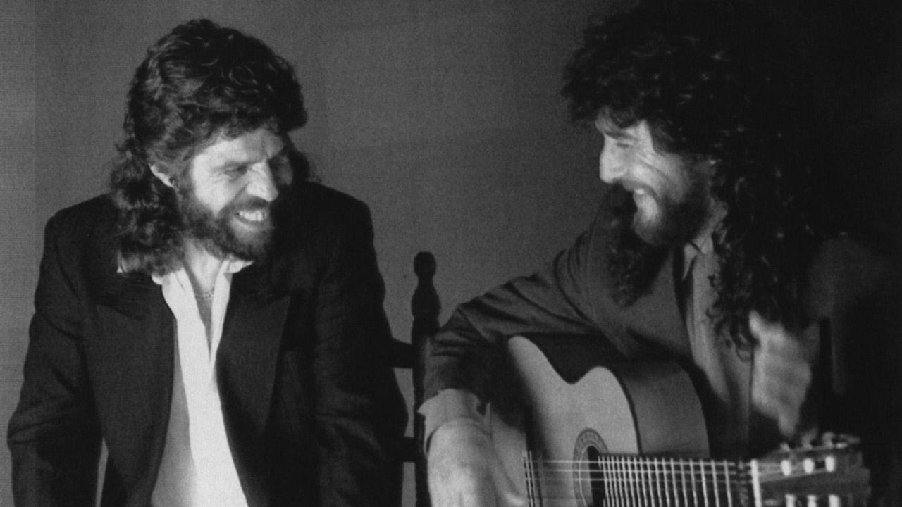 Camarón, con el guitarrista Tomatito, en una imagen de 1992