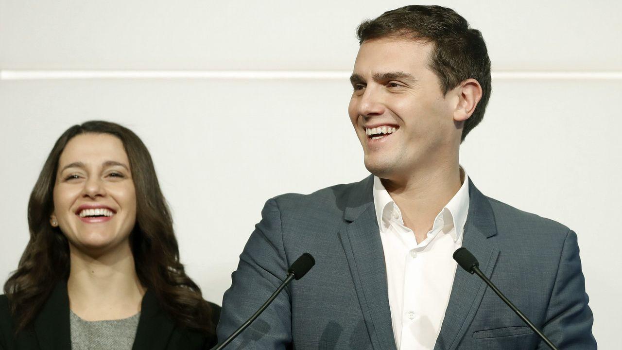 Arrimadas anuncia su candidatura por Barcelona para el 28A.Inés Arrimadas y Albert Rivera