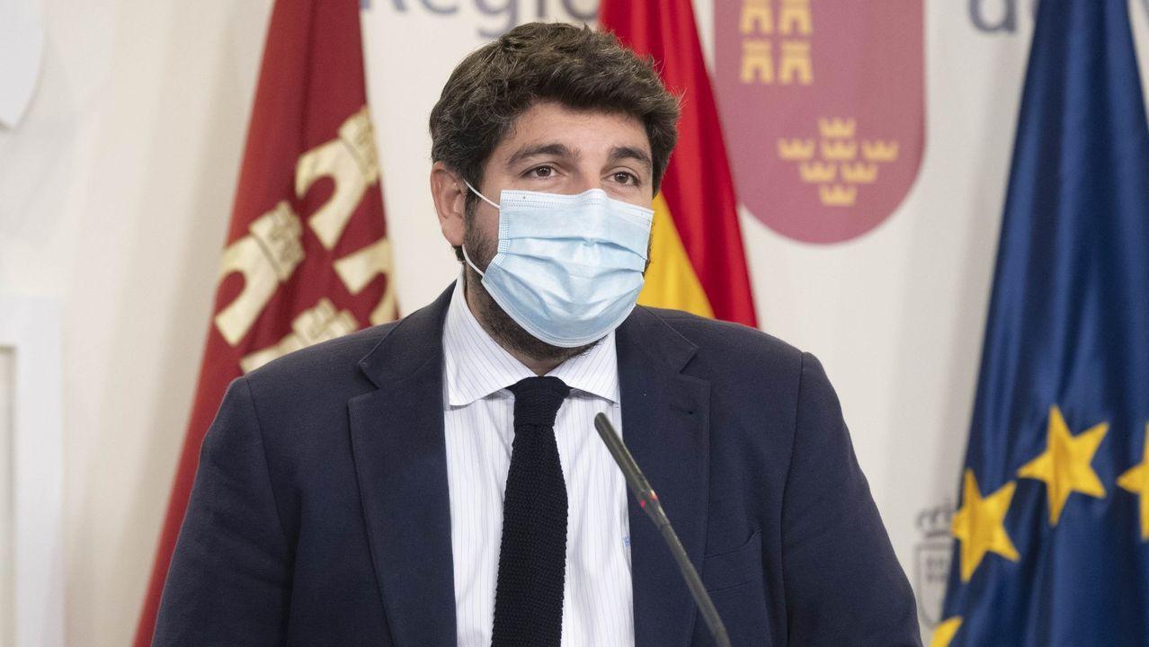 El presidente de la Comunidad, Fernando López Miras