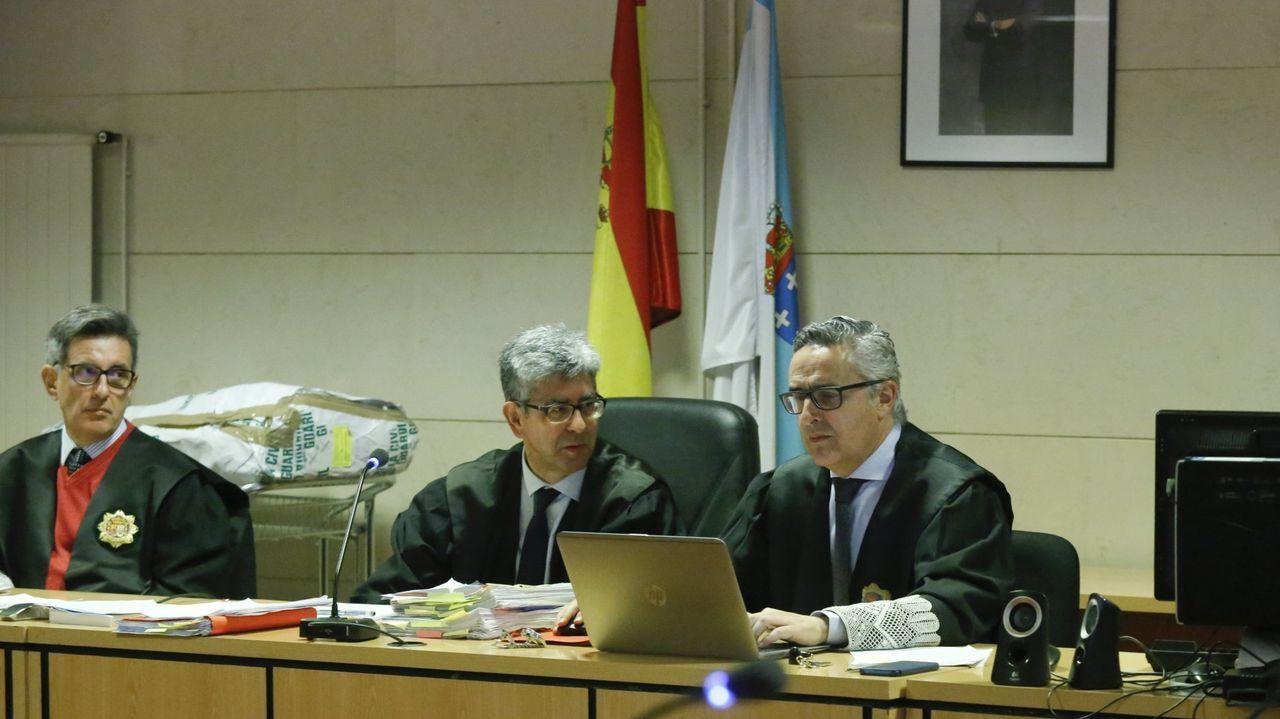 En una imagen de archivo, un juicio en la sección compostelana de la Audiencia Provincial