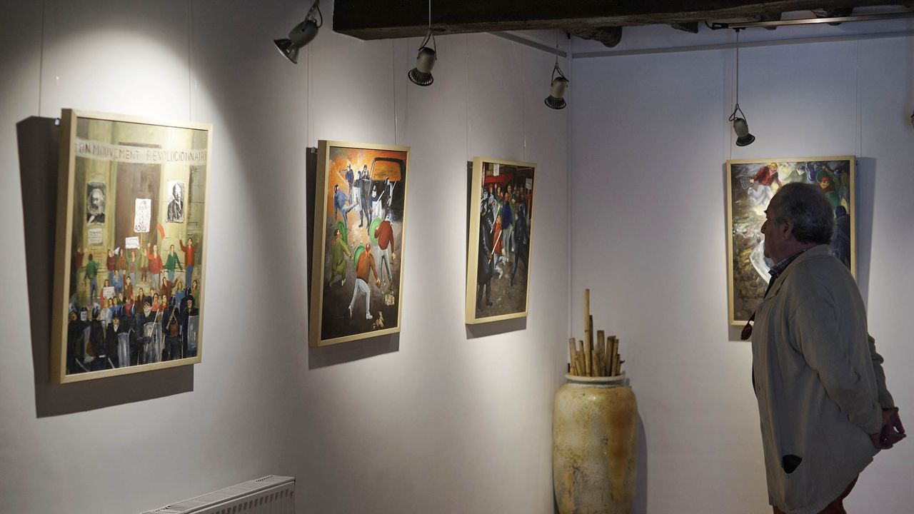 Una de las exposiciones en la Fundación Vicente Risco en Allariz