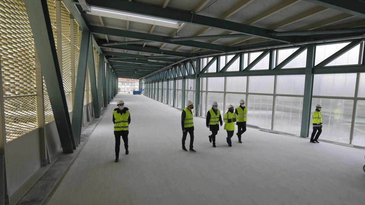 Imagen de la línea de alta velocidad ya terminada en el entorno de Taboadela (Ourense)