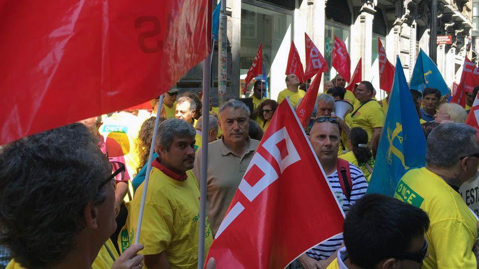 Concentración de trabajadores de la ONCE.Concentración de trabajadores de la ONCE
