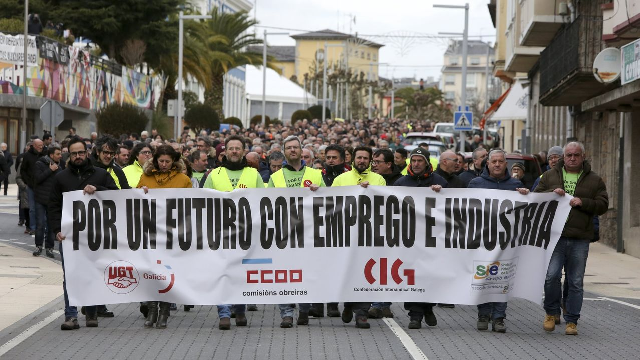 Manifestación en defensa de la continuidad de la central, en una foto de archivo