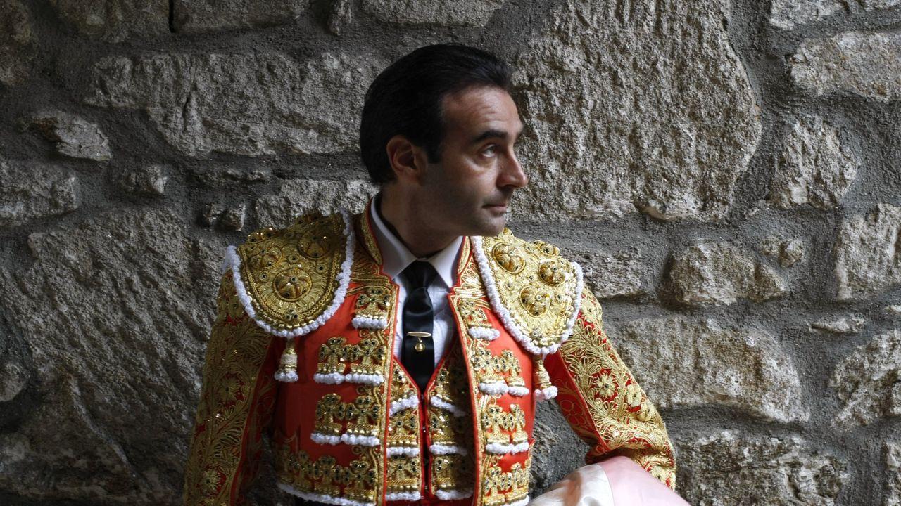 Enrique Ponce, en una imagen del 2014 en la plaza de todos de Pontevedra