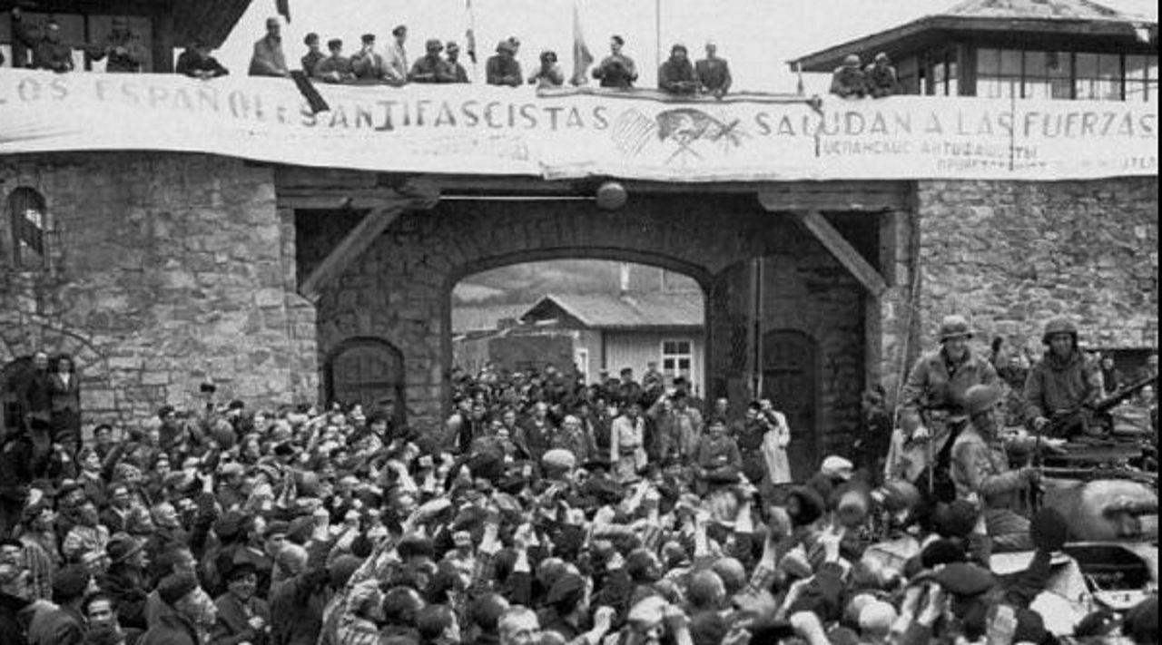 Liberación del campo de Mauthausen en 1945