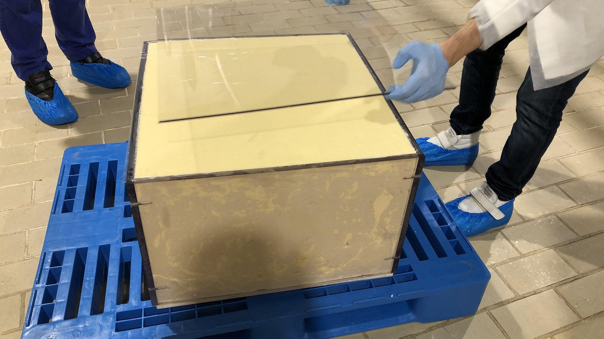 Bloque de la mantequilla de 150 kilogramos utilizada en MasterChef