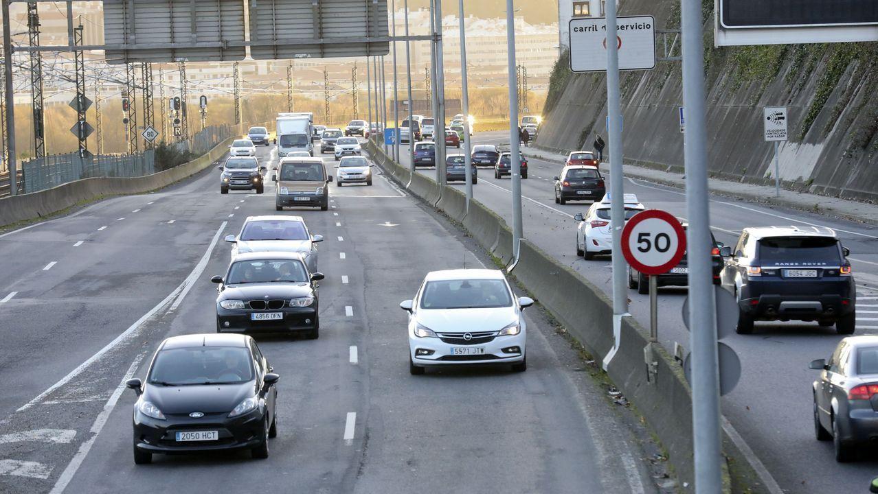 Así está siendo el paso de Fabien por Compostela y comarcasde la zona