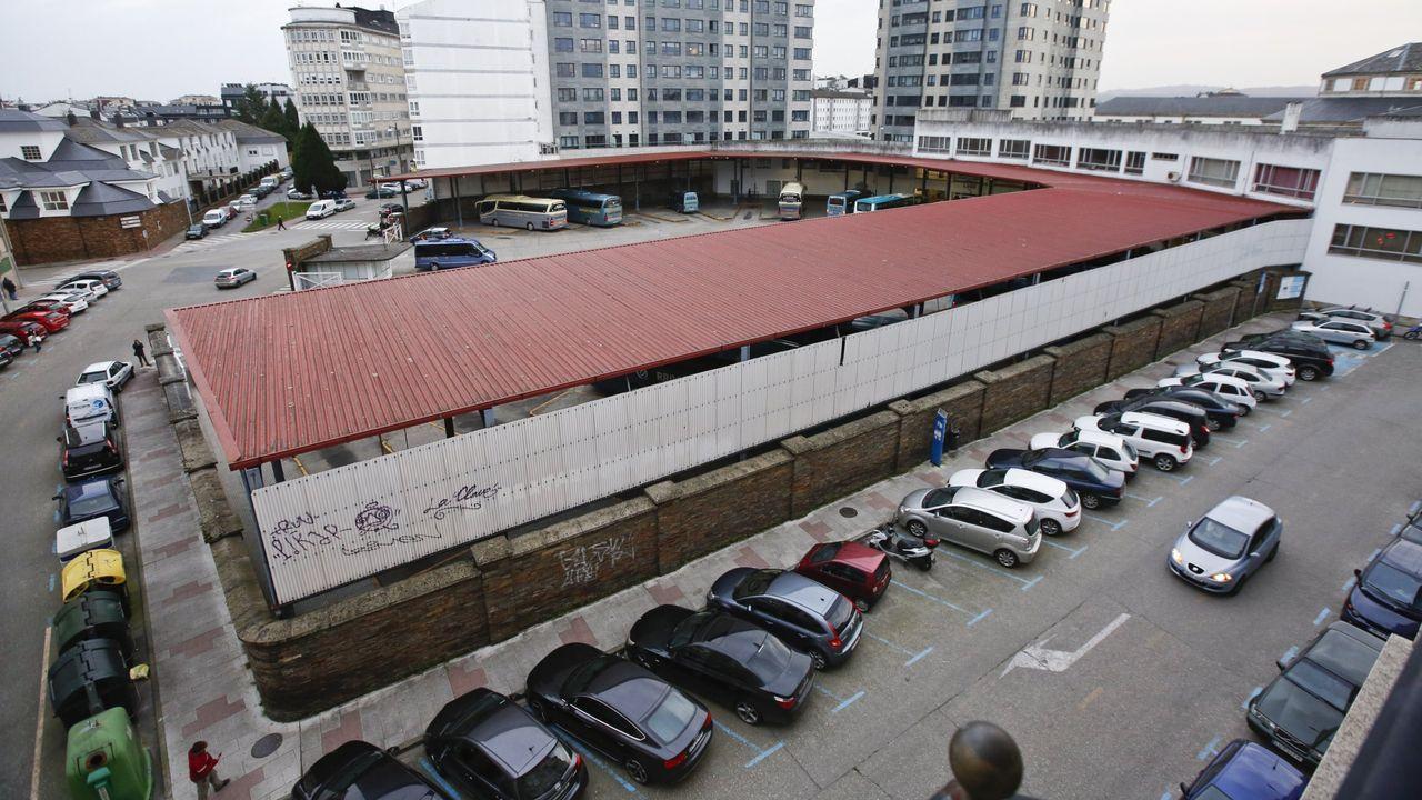 Obras en la variante de Pajares.Estación de A Pobra de San Xiao, una de las que se cerraron en septiembre de 1999