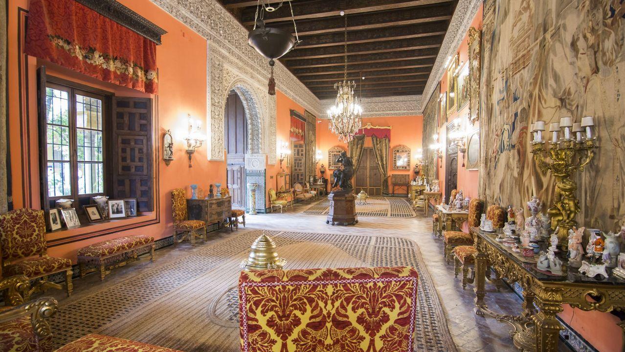 El salón de la Gitana del Palacio de Dueñas, residencia de la fallecida duquesa de Alba