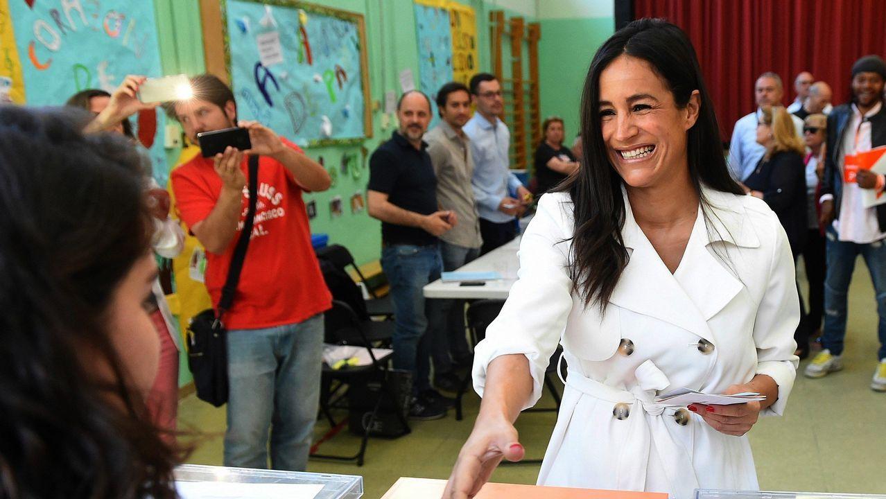 Los trabajadores de Alcoa llegan a Oviedo desde Madrid.La candidata de Ciudadanos a la alcaldía de Madrid, Begoña Villacís