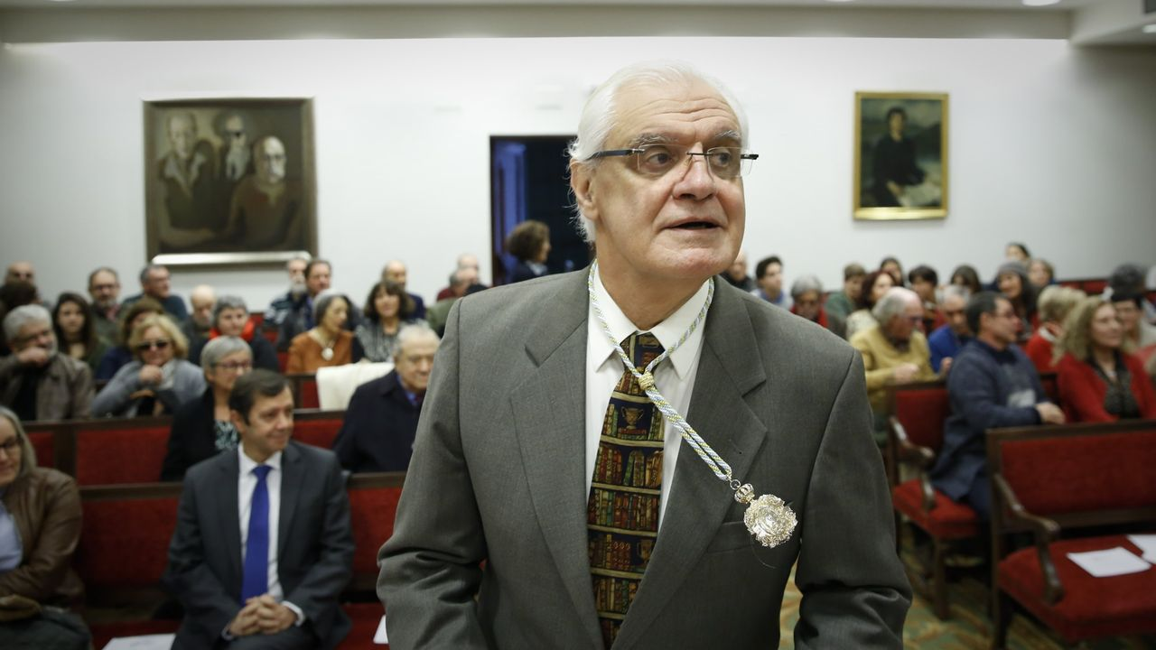 Espazos baleiros no Día das Letras.Víctor Freixanes, presidente da RAG