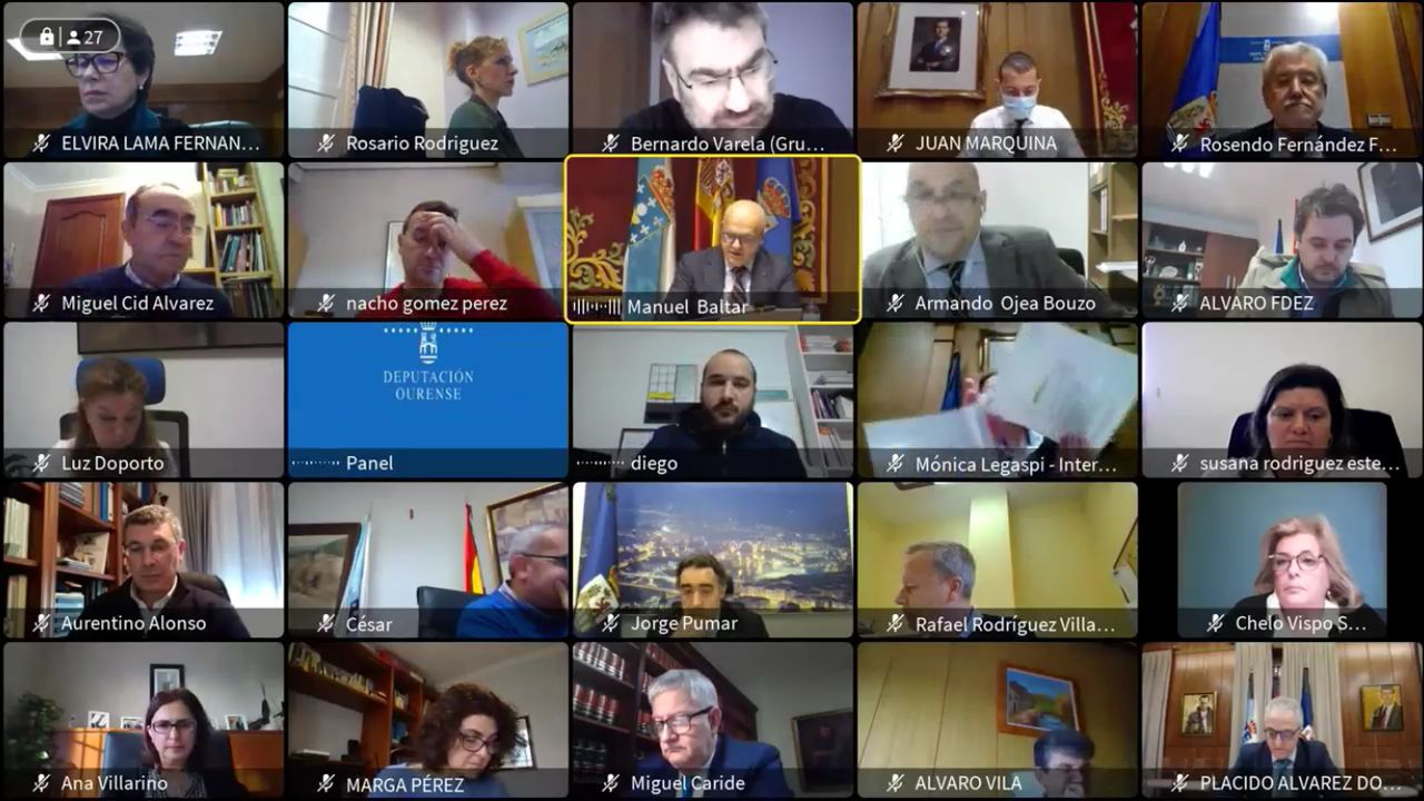 Pleno telemático en la Diputación ourensana