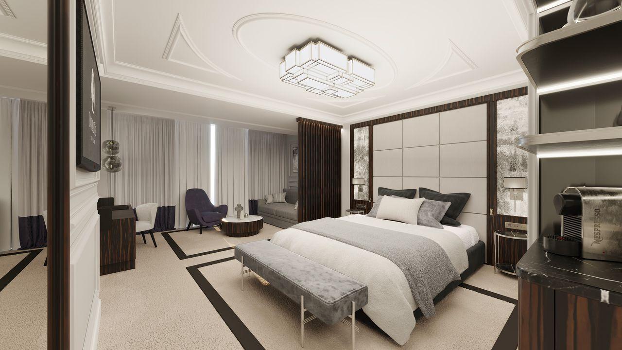 Una de las habitaciones del nuevo Hilton A Coruña
