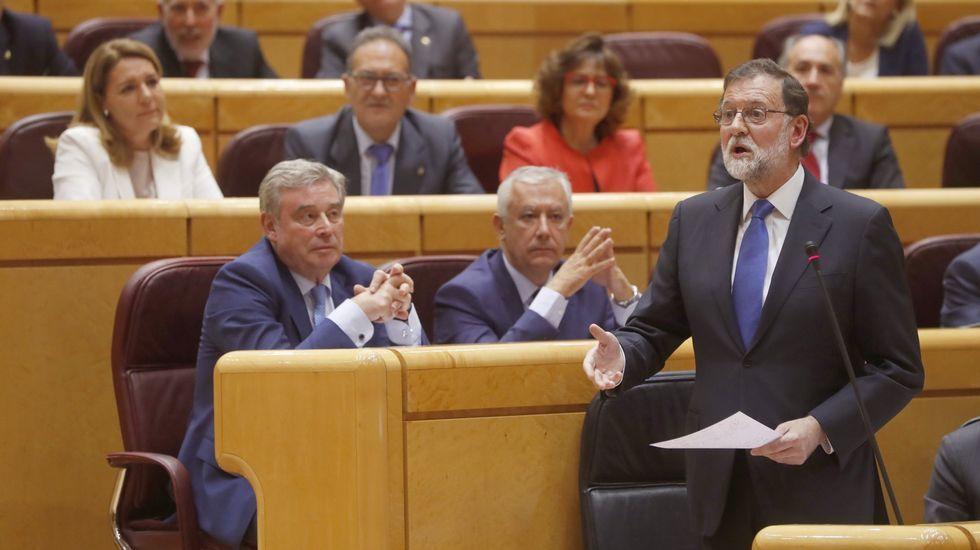 Francisco Álvarez-Cascos.El presidente de la comisión, Pedro Quevedo, de Nueva Canarias, al inicio de la reunión de la comisión de investigación sobre la presunta financiación ilegal del PP