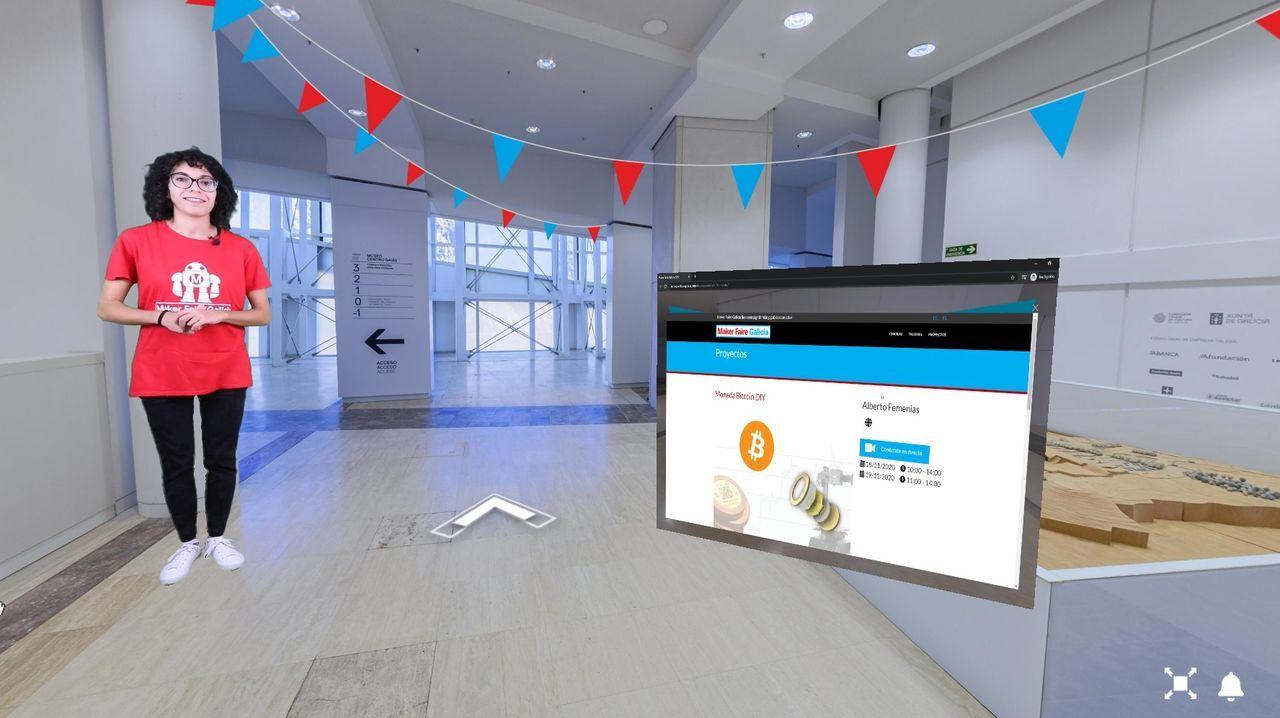 El evento cuenta con una asistente digital que explica cómo acceder