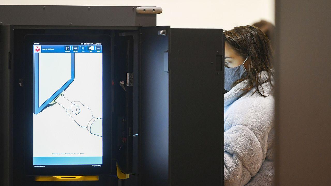 Punto de votación electrónica en Atlanta