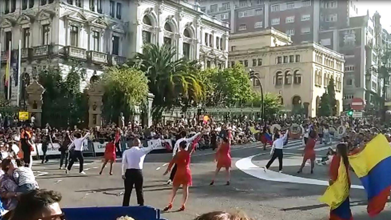 Multitudinario Día de América en Asturias.Maduro, en un acto de gobierno, en La Guaira