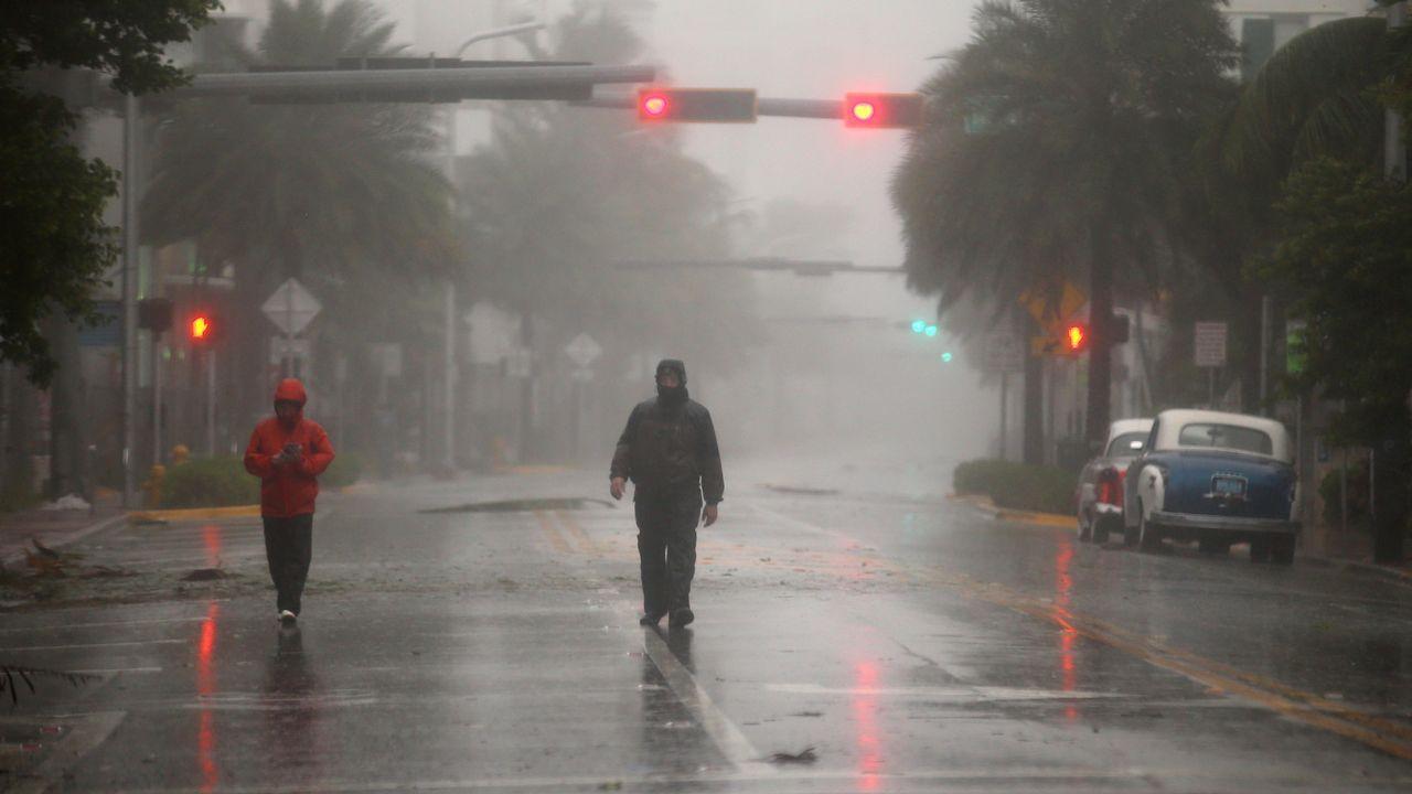 Los animales del zoo de Miami han sido encerrados para evitar que sufran daños.