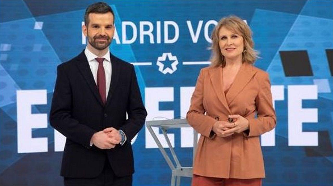 Jon Ariztimuño y María Rey moderarán el debate entre los seis candidatos en Telemadrid este miércoles