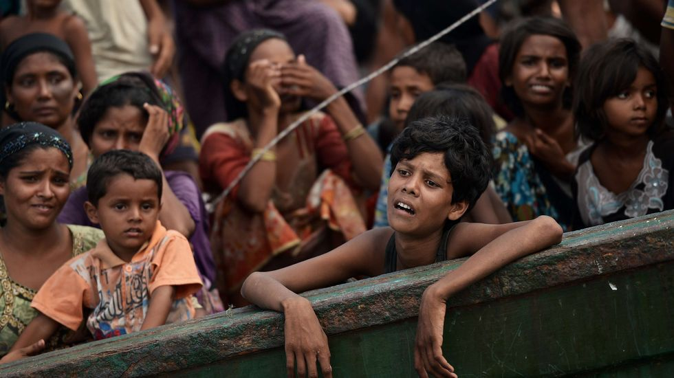 Tragedia en el golfo de Bengala.Inmigrantes rohingyas, ayer en Maungdaw.