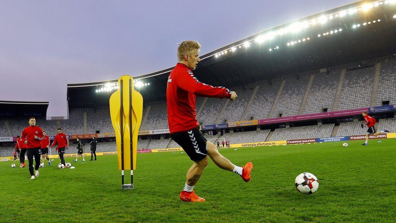 Krohn-Dehli se estrena en el entrenamiento del Deportivo