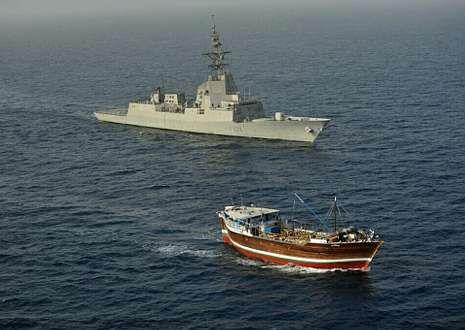 El «Patiño» tras participar en la operación Libertad Duradera.