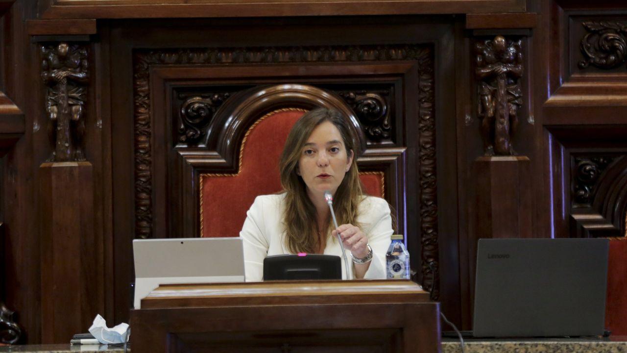 Rosa Gallego, en su primera comparecencia ante los medios tras ser nombrada portavoz del PP coruñés
