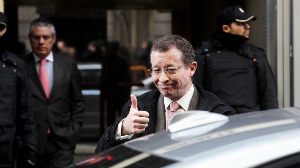 El gallego Jesús Pedroche, a su salida de la Audiencia Nacional.