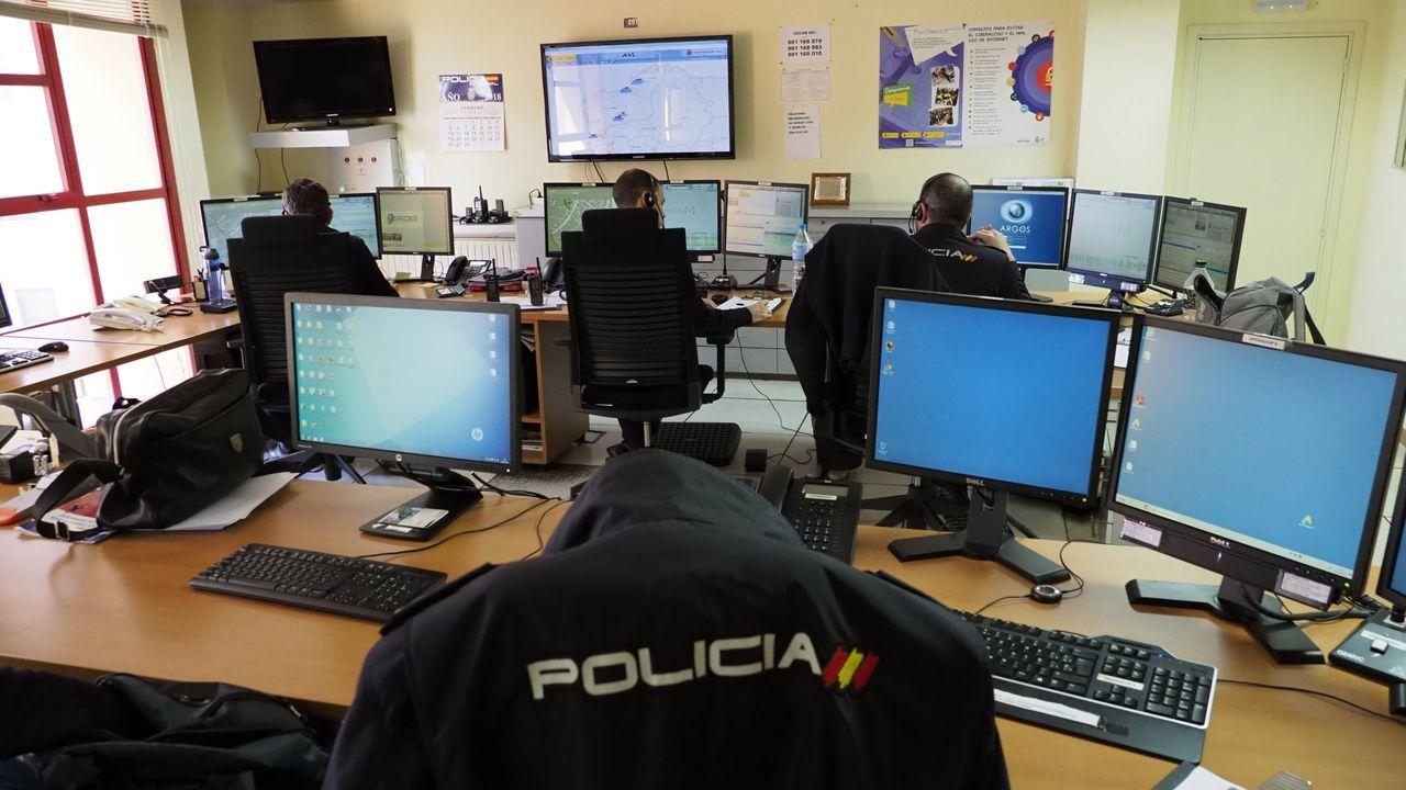 Las especies que se van a controlar por las obras de la A-54.Sala de control del 091 en A Coruña