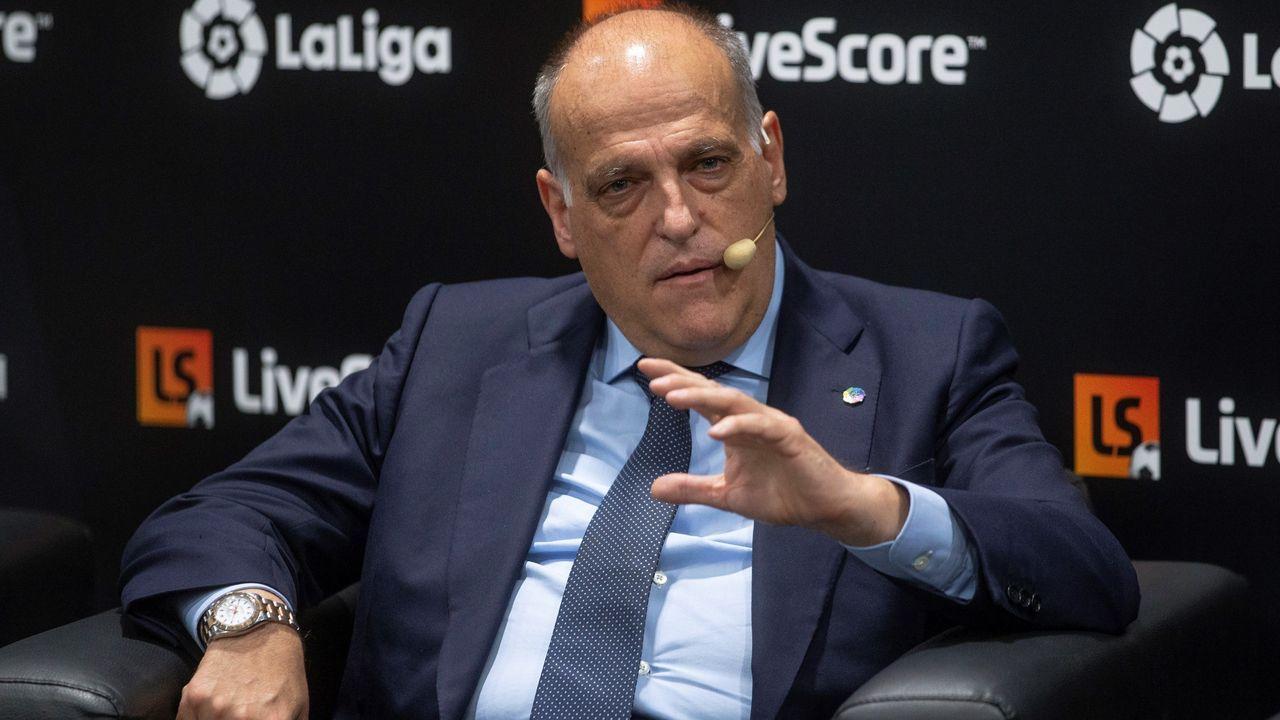 El presidente de LaLiga Santander, Javier Tebas,