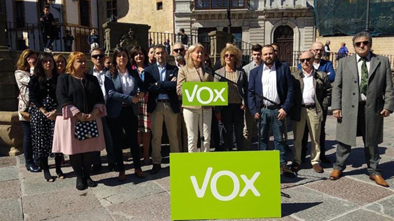 Presentación de la candidatura de Vox a la alcaldía de Oviedo