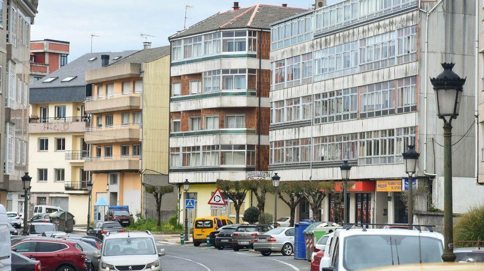 edificios.El entorno de la plaza de la Ilustración registra el importe medio de pensiones más alto de Ferrol