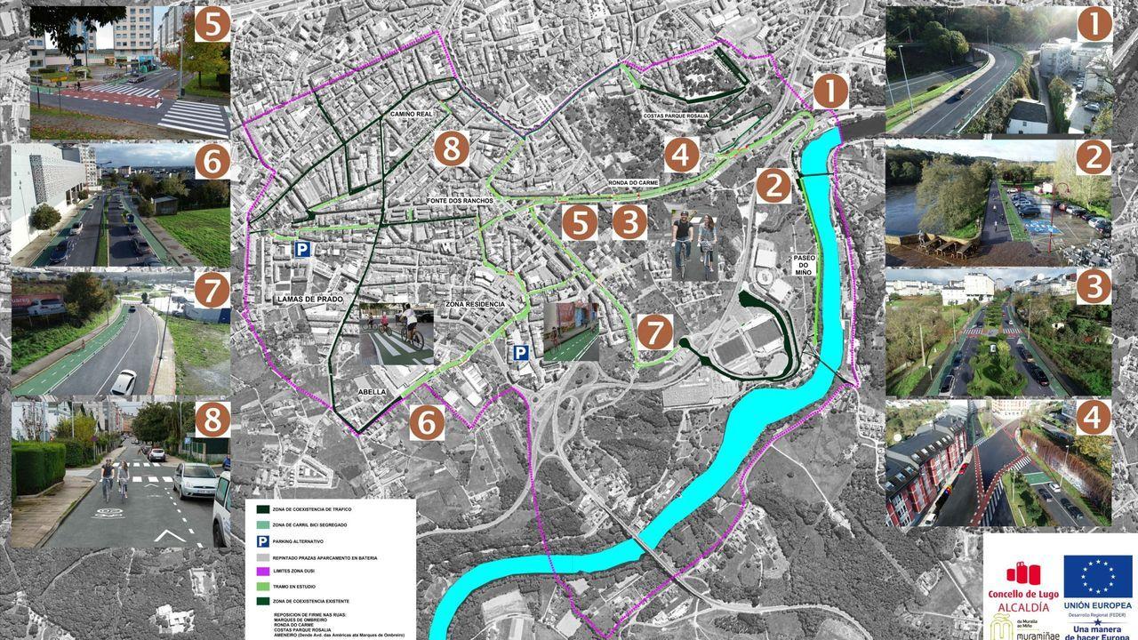 Lugo trae el campo a la ciudad.La nueva senda verde de Lugo