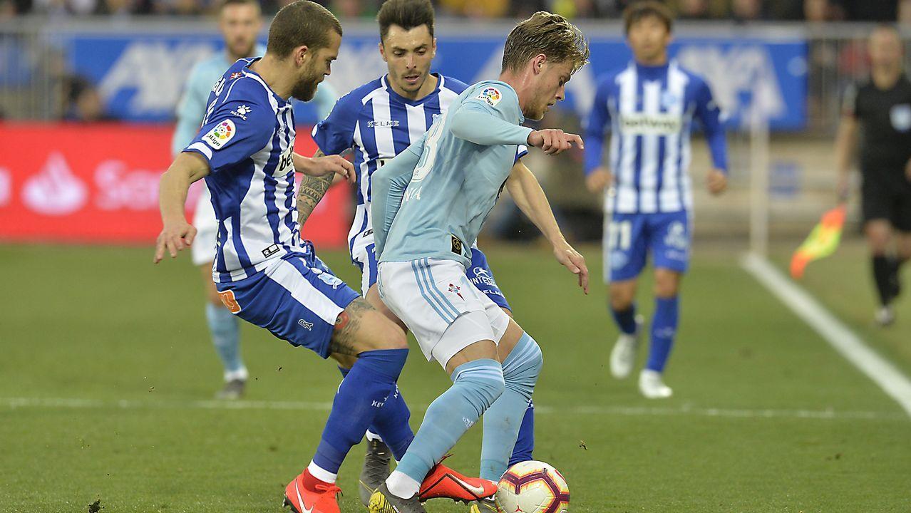 Las mejores imágenes del Málaga - Deportivo